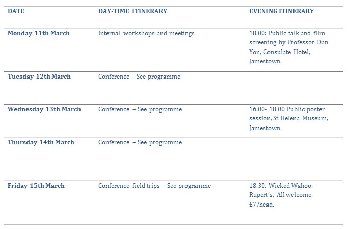 Updated Daily Itinerary