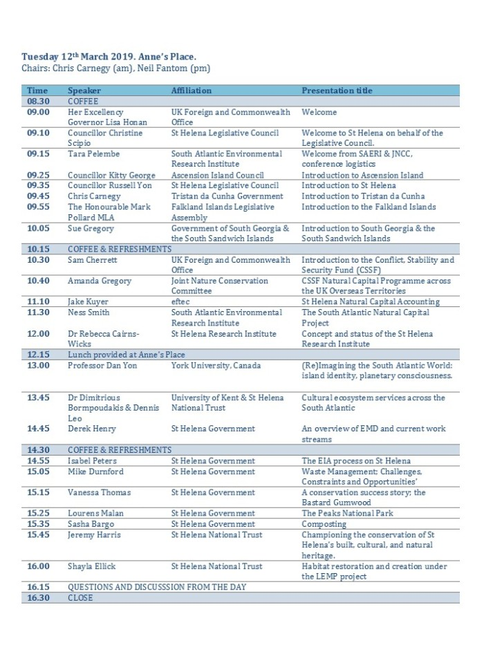Conference Programme Tues